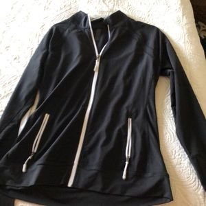 Black with White detail athletic jacket